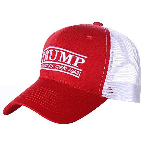 Wizsoula Make America Great Again, Gorra de béisbol Bordada Sombrero, Donald Trump Rojo Cap, Make America Great Again, Sombrero Ajustable