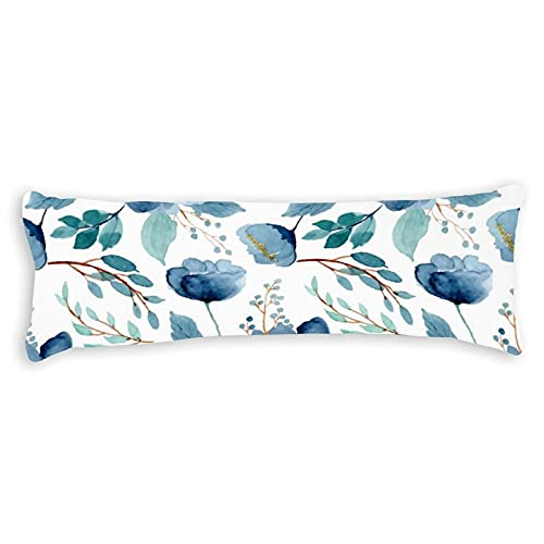 Federa decorativa per cuscino per il corpo, in cotone, 180 x 50 cm, con cerniera, per adulti, per bambini