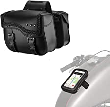 Motorcycle Saddlebags with Motorcycle Magnetic Tank Bag
