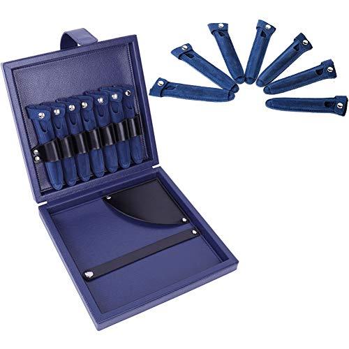 Kappersgereedschap tasje kapper kappers salon PU-leer haar schaar tas grote capaciteits-haar-mode-gereedschap-opslag-case, donkerblauw