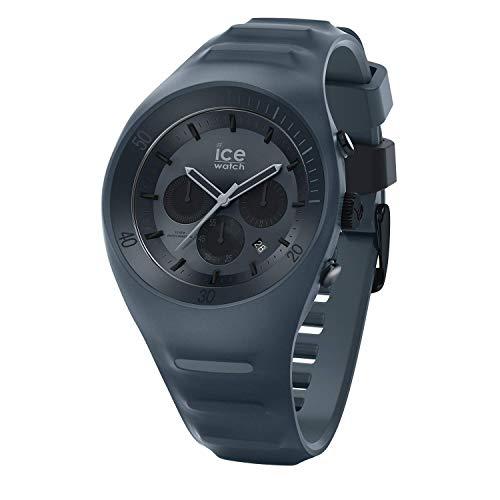 Ice-Watch - P. Leclercq Black - Schwarze Herrenuhr mit Silikonarmband - Chrono - 014944 (Large)