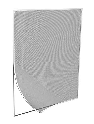 Windhager Insektenschutz Magnetfenster, MAGNET Rahmen für Fenster Fliegengitter Mückengitter, werkzeugfreie Montage, Weiß, 100 x 120 cm, 03388