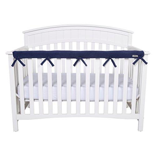 Narrow CribWrap Crib Wrap 3PC Crib Rail Cover Set By Trend Lab (Navy)