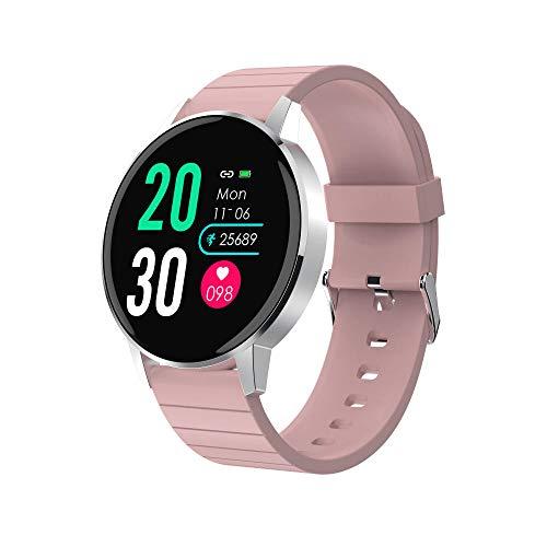 KYLN Smart Watch Full Touch IP67 Reloj Resistente al Agua 30 días en Espera Banda de Pantalla HD para iOS Android iPhone -Pink