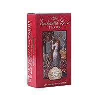 The Enchanted Love EGuideブック付きの完全英語版のエンチャンテッドラブタロットデッキEinstructionカードゲーム運命告知ゲームは運命予測カードゲームを設定します