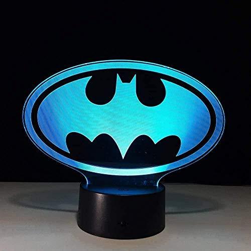 Baby Spielzeug 3D Carácter Icono Luz de noche para niños LED USB luces de noche ilusión táctil lámpara de mesa 16 luces cambiantes de color con control remoto para niños regalo de cumpleaños