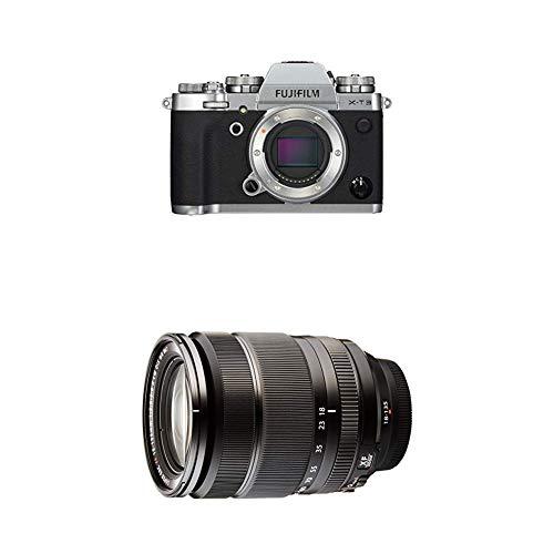 Fujifilm X-T3 - Cámara de objetivo intercambiable sin espejo, con sensor APS-C de 26,1 Mpx, video 4K/60p DCI, pantalla táctil, WIFI, Bluetooth, plata, Kit con objetivo X-T3 + XF18-135mm