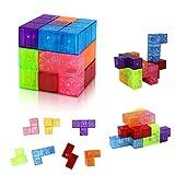 welltop Juguetes magnéticos Cubos mágicos para niños Bloques de construcción magnéticos Ladrillos de Juguete para Adultos, Alivio del estrés, Rompecabezas educativos