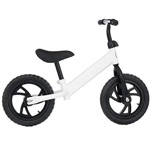 QHY Bebé Bicicleta De Equilibrio Caminante Niños Paseo En Juguete Regalo para 2-6 Años Antiguo Niños para Aprendizaje Dos Rueda Scooter No Pie Pedal Bicicleta (Color : White)