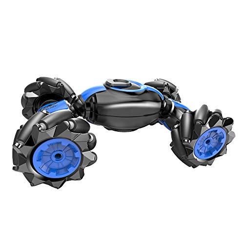 RC Stunt Car, 4WD 2.4GHz Remote Control Car, Deformable All-Terrain Off Road Monster Truck, 360 Degree Flips Double Sided Rotating Race Car with Gesture Sensing Watch Christmas Gift for Kids