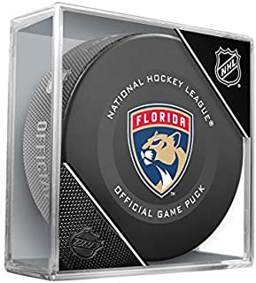 Florida Panthers Inglasco Official NHL Game Puck in Cube - New 2019