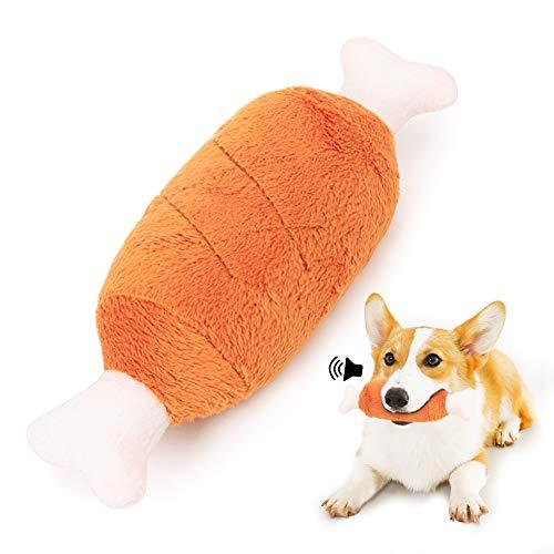 Hunde Quietschspielzeug Plüsch, Hundeknochen Spielzeug Welpenspielzeug Kauspielzeug, Hundespielzeug Unzerstörbar Hunde für Kleine, mittelgroße Hunde, Katzen - Natürliche Baumwolle