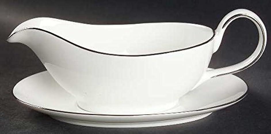 Royal Doulton Signature Platinum Gravy Boat & Underplate, Fine China Dinnerware