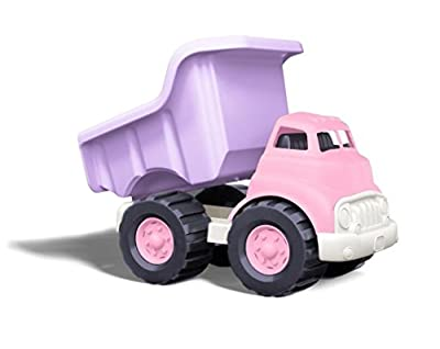Dump Truck in Pink Color - BPA Free, Phthalates Free Play Toys for Improving Gross Motor, Fine Motor Skills. Play Vehicles from Green Toys