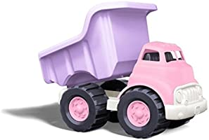 Green Toys Dump Truck in Pink Color - BPA Free, Phthalates Free Play Toys for Improving Gross Motor, Fine Motor Skills....