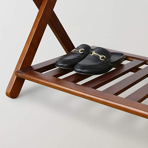 Casual Home Luggage Rack, Walnut