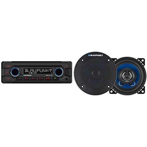 Blaupunkt 1-DIN, Bluetooth-Freisprecheinrichtung, 12 V, Heavy Duty Design DOHA112BT & Auto-Lautsprecher BLAUPUNKT icx4024100mm 180W
