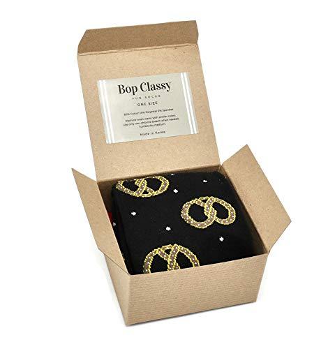 Bop Classy Gift Boxed Men's Novelty Crew Socks Single Pair (Pretzel)