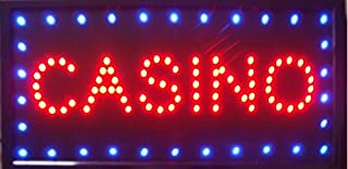 CHENXI Casino Beer Pub Games Poker Bar LED Sign Neon Light Sign Display 1910 Inch Indoor Use (48 X 25 CM, C)