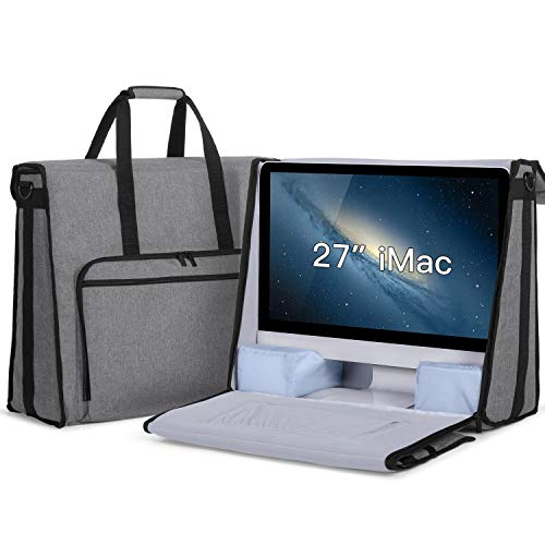Damero Carrying Tote Bag Compatible with Apple 27 iMac Desktop Computer, Travel Storage Bag for iMac 27-inch and Other Accessories, Gray