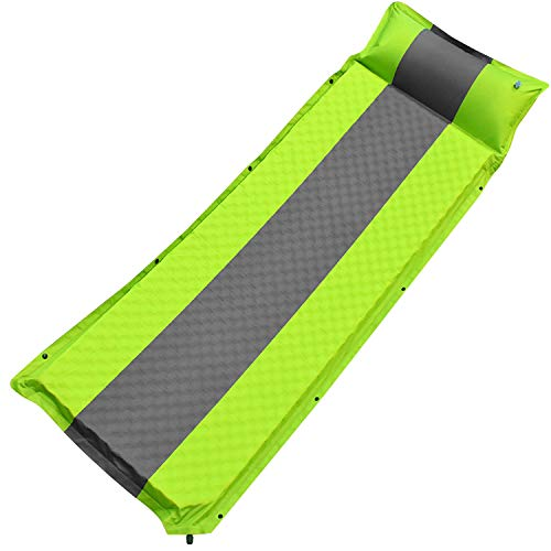 GALSOAR Camping Pad, Extra 2 Inches Thickness Comfortable Self Inflating Sleeping Pad, Lightweight Portable Sleeping Mat for Backpacking, Car Traveling and Hiking