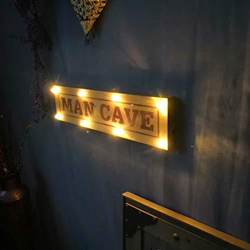 Signo de salida Retro Grande Luz con Batería para uso en interiores en Pub..