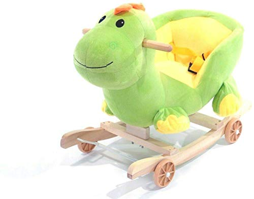 2 In 1 Baby Rocking Chair Animal Riding Child Walker With 5 Animal Design (Dino The Dinosaur)