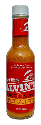 Alvin's Yellow Scotch Bonnet Pepper Hot Sauce, 5 Ounce, Vegan