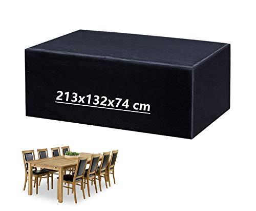 Mutsitaz Funda para Muebles de Jardín Impermeable Oxford Muebles de Jardin Cubierta, Tamaño 213 x 132x 74cm