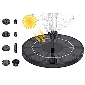 SEGMINISMART Fuente Solar, Bomba de Fuente de Agua Solar para pájaros, portátil, Flotante alimentada por energía Solar…