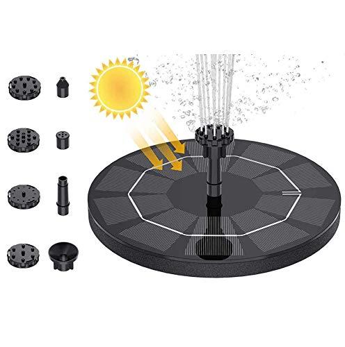 SEGMINISMART Solar Springbrunnen, Solar Teichpumpe mit Solar Panel Eingebaute Batterie Wasserpumpe, Solar Schwimmender Fontäne Pumpe mit 6 Fontänenstile für Garten, Vogel-Bad,Teich