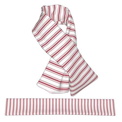 Flanella Cross Sciarpa Materasso a strisce strette bandiera USA rosso e bianco collo sciarpe peluche double face morbido leggero avvolge per donne uomini e ragazzi