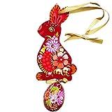 Ganmek Colgante De Huevo De Conejito De Pascua para Decoración del Hogar Adornos De Acrílico De Pascua para Decoración del Hogar 63x256x012in Kind