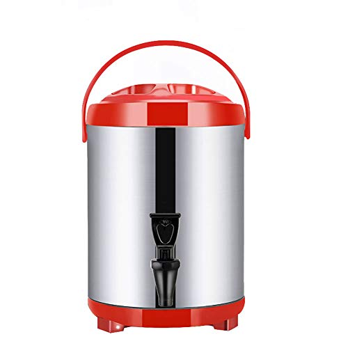 Dispensador de Bebidas Calientes con Grifo y Trípode Plegable, 8L/10L/12L, Dispensador de...
