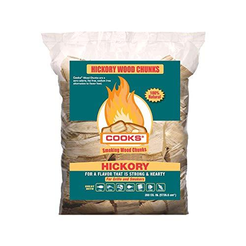 Cooks BBQ Products Hickory Wood Chunks- Kiln Dried...