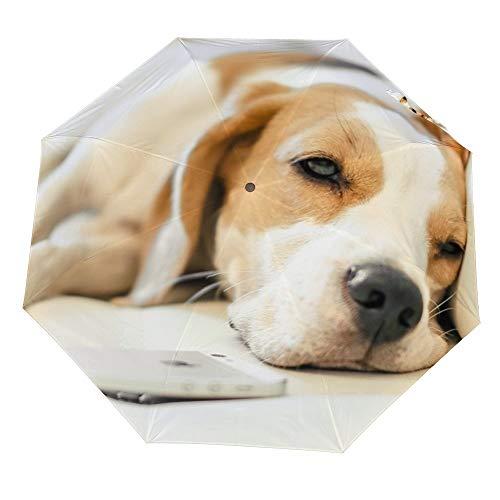 Reis Paraplu - Bed Beagle Hond Auto Opvouwbare Wind Bestand Winddicht Regen Reizen Paraplu