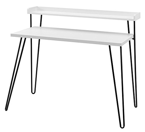 Ameriwood Home Haven Retro Desk with Riser, White