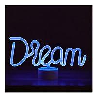 ファッション装飾 ネオンサイン、文字ネオンライトは、導かれたネオンサインは、ウェディングルームデコレーションやフェスティバルに適してい 家族でのパーティー、誕生日パーティー、雰囲気 (Color : Dream)