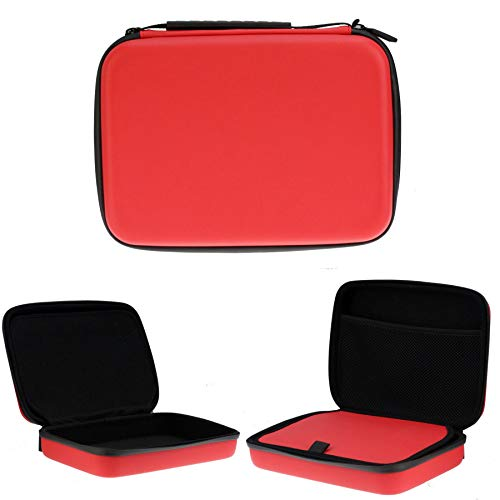 Navitech Red Heavy Duty Rugged Headphone Case Suitable for The Audio Technica ATH-ANC900BT