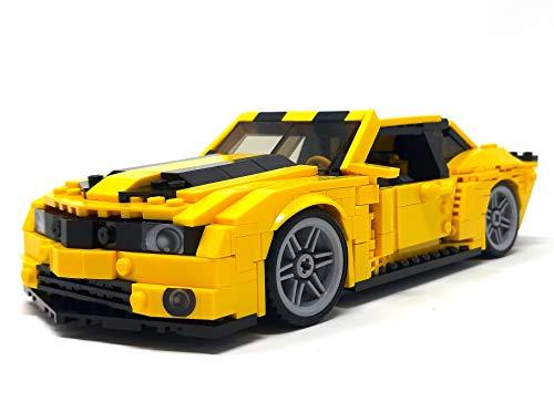 Modbrix Bausteine Auto Camaro V8 Sportwagen, 584 Klemmbausteine