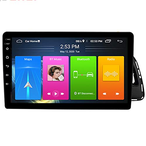Quad Core Car Stereo Coche Radio HD Pantalla Táctil WiFi y Bluetooth Manos Libres Radio+Navegación GPS+Espejo Enlace+Plug and Play, para Audi Q5 2010-2018,2.5d,4G WiFi 2+32