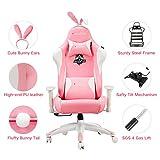 AutoFull Pink Gaming Stuhl für Mädchen