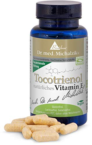 Tocotrienol natürliches Vitamin E - 60 Kapseln - 110 mg hochdosiertes Tocotrienol je Kapsel - ohne Zusatzstoffe - nach Dr. med. Michalzik® - von BIOTIKON®