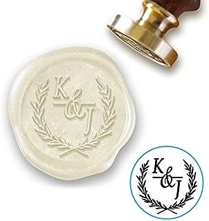"Wedding Custom Wax Seal Stamp Kit with Sealing Wax-1"" Die with Duogram"