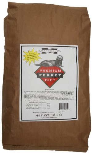 Marshall Premium Ferret Diet, 18-Pound Bag