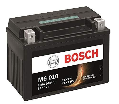 Bosch M6010 Batería motocicleta YTX9-BS - 12V AGM 8A/h-80A