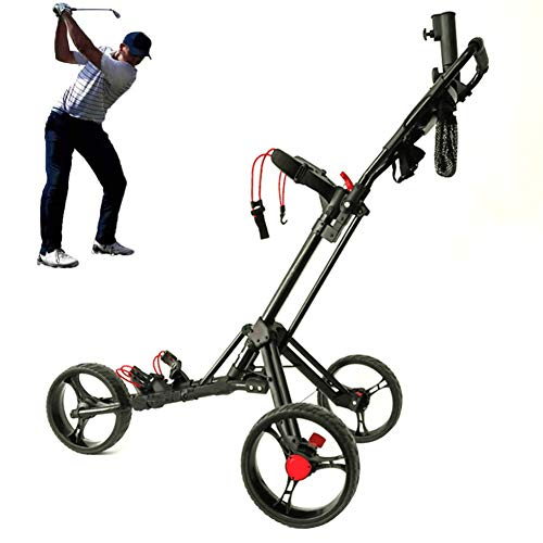 Affordable DFGHJKNN Golf Cart,Golf Push Trolley Folding System,Collapsible Lightweight Pushcart with...