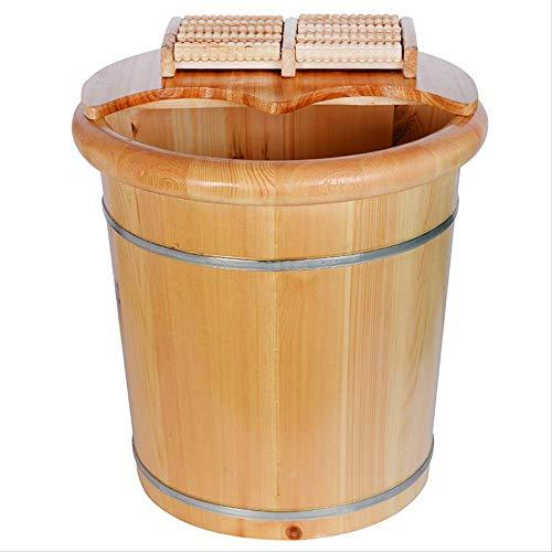 FengFang Pediluvio Barile Pediluvio Domestico Secchio Alto Profondo 40 Cm In Legno Massello Sopra Il Vitello Barile Lava Piedi Bacino Pediluvio In Legno