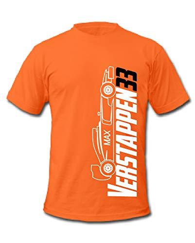 Cold Gun F1 Max Verstappen 33 Formel 1 Rennfahrer T-Shirt Gr. XL, Orange