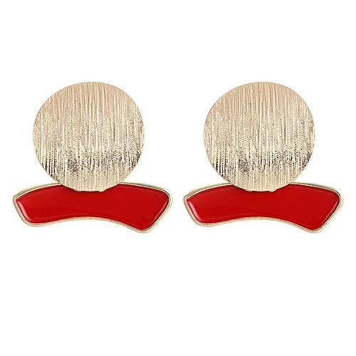 Burenqi oorbellen, rond, van metaal, grote creolen, eenvoudig sieraad, voor oorbellen met persoonlijkheid, kleur zwart/rood/roze